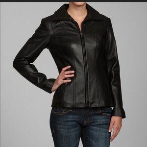 Jones New York Leather Jacket Black